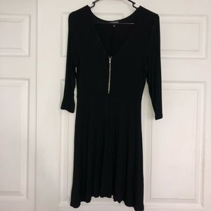 Black dress with front zipper!